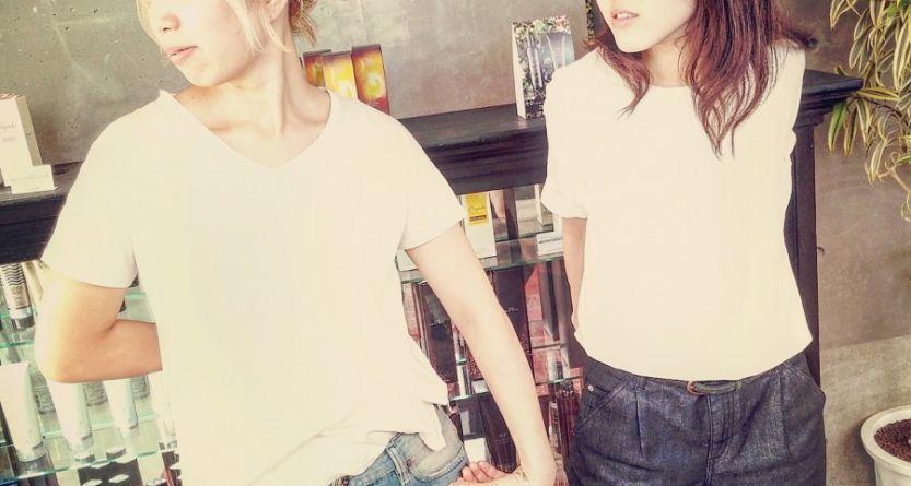 ホワイト × デニム